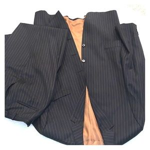 Michael Kors suit striped 44L pants 38 x33